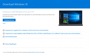 Download tool now Windows 10